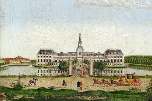 Hørsholm Slot c. 1800. Af Georg Christian von Lind. Kilde: pinterest