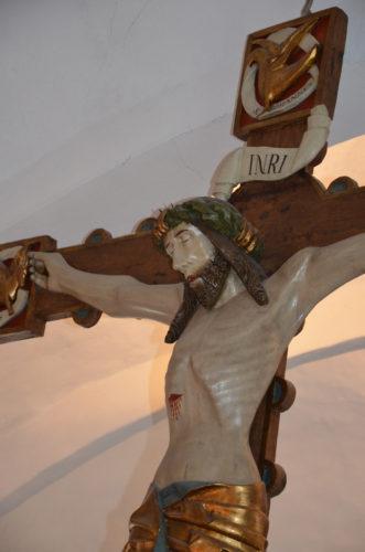 Senmiddalderligt krucifiks ca 1500 i Stenløse kirke © Kulturhistorier