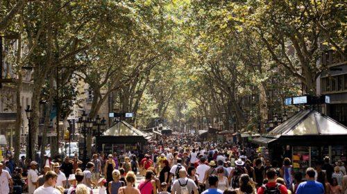 La Rambla in Barcelona. Kilde: Wikipedia