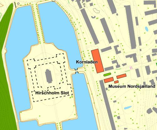 Plan over Slotsøen og et fremtidige Struensee Museeum © Museum Nordsjælland 2017