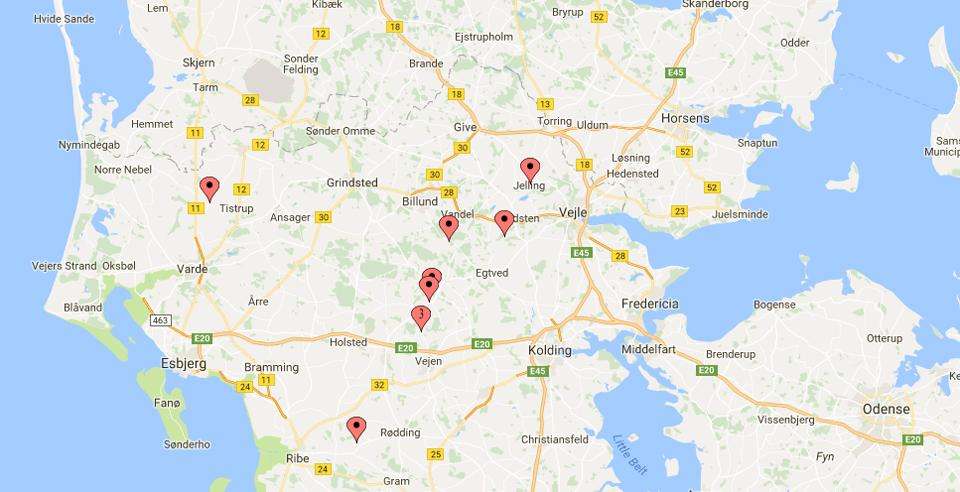 Kort over Ravnunge Tues færden
