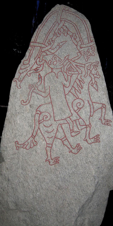 Runesten fra Hunnestad. Nu i Kulturen i Lund. Kilde: wikipedia