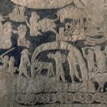 Thor og Hymer på fisketur. Fra en gotlandsk billedsten. Nu i Stockholms Nationalmuseum. Kilde: Wikipedia