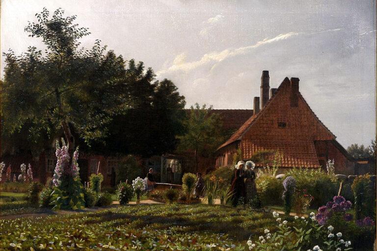 Bedstemors Have. Af Christian Zahrtman. Bornholms Museum. Kilde: Google Art Project