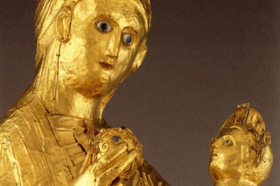 Detalje. Den Gyldne Madonna fra Essen. Ca 980. Kilde: Wikipedia