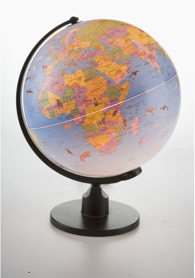 Globus med lys i