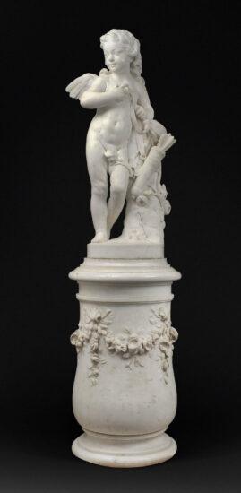 Amor med pilen. 1752. Louvre. Kilde: Montage efter wikipedia/Tangopasso