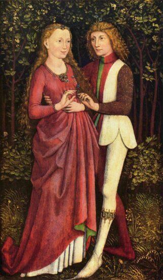 Brudepar ca. 1470. Schwäbisher Meister. Kilde Wikipedia