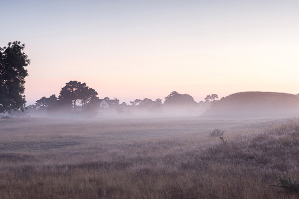 Sutton-Hoo-on a frosty morning in winter