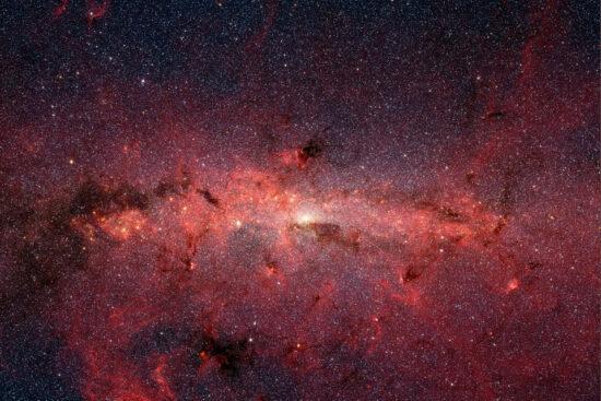 Mælkevejen med dens centrum © Wikipedia/I.R. Spitzer CC-BY-3.0