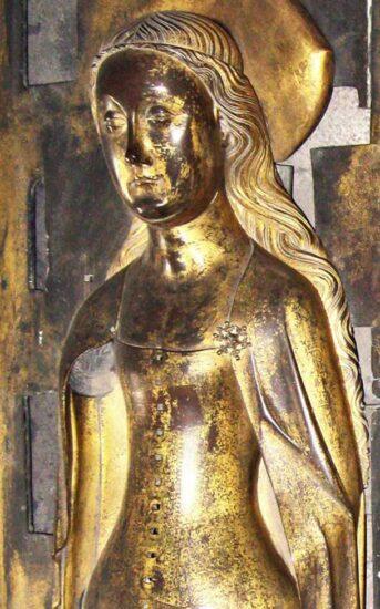 Anne af Böhmen. Kistefigur. Westminster Abbey. Kilde: Wikipedia