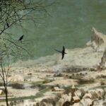 Detalje fra. Peter breughel den Ældre: Jægere i Sneen. Kilde: Google Art Project