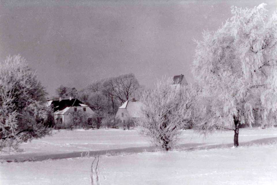 Vinter ved Blicher's Præstegaard i Spentrup © Purhus Lokalarkiv
