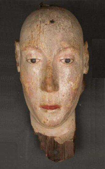Begravelsesmaske af Anne af Böhmen. Westminster Abbey. Kilde: Wikipedia