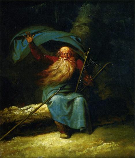 Ossian's Svanesang af Abildgaard