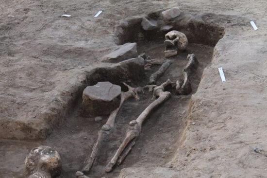 Billede fra udgravningen af den tidligste kirke i Nærum © MNS