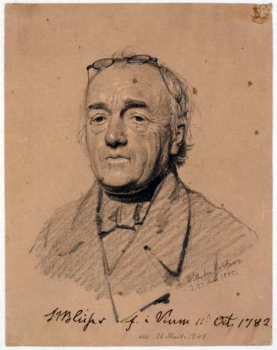 St. St. Blicher 1845. Af Gertner. Den Kgl.Koberstikssamling