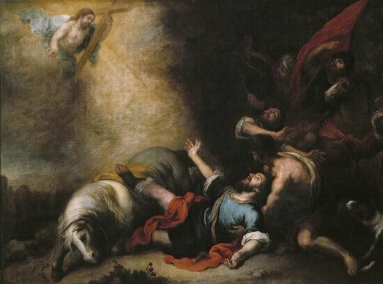 Omvendelsen af Paulus. Af Bartholomé Estéban Murillo. Kilde: Wikipedia. Originalen hænger på Prado i Madrid.